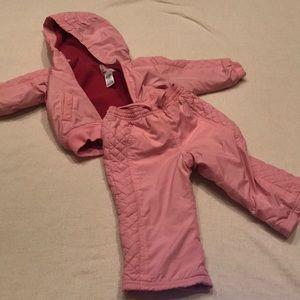 Girl hoodie jacket set